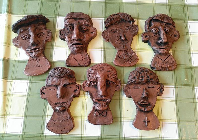 Clay heads